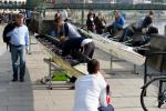 Rowing boat assembly